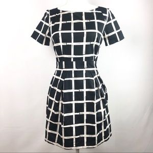 French Connection black/white dress size 4
